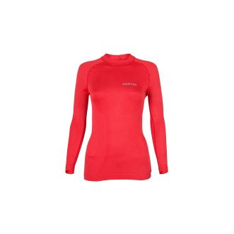 Maillot à manches longues thermoactif - Rouge - Femme