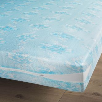 Renove-matelas Rena - 90 x 190 cm - Maille extensible 100% Polyester