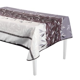 """Nappe Rectangulaire anti-tache Bambou Taupe"""" - 240 x 150 cm"""""""
