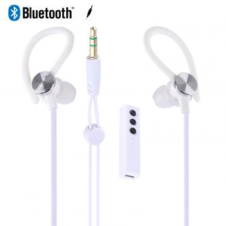 Ecouteurs intra-auriculaires bluetooth - Blanc