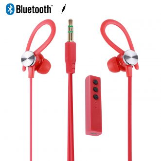 Ecouteurs intra-auriculaires bluetooth - Rouge