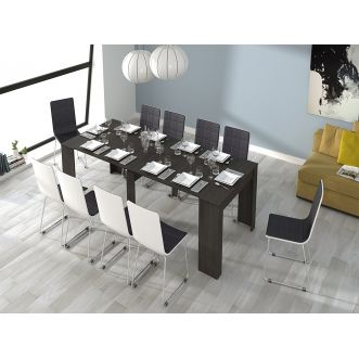 Table extensible - 10 convives - Gris cendré