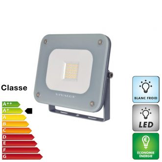 Projecteur LED 20 W extra plat - Blanc froid - IP65