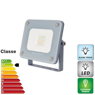 Projecteur LED 10 W extra plat - Blanc froid - IP65