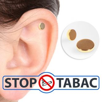 Aimants auriculaires anti-tabac