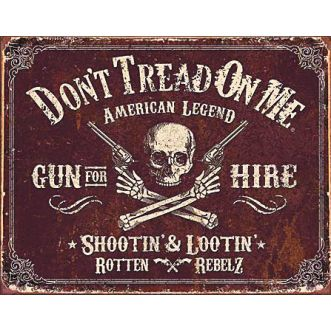 Plaque Dtom - gun for hire - 30x40 cm