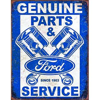 Plaque Ford service pistons plaque us - 30x40 cm