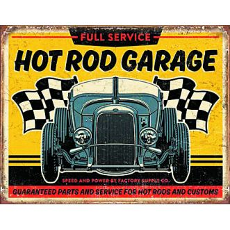 Plaque Hot road garage 32 rod plaque us - 30x40 cm