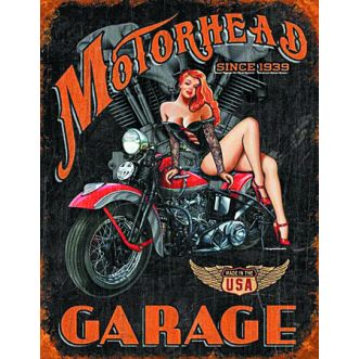 Plaque Legends motorhead garage plaque us - 30x40 cm