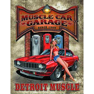 Plaque Legends muscle car garage plaque us - 30x40 cm