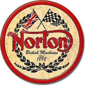 Plaque Norton logo round plaque us - 30x40 cm