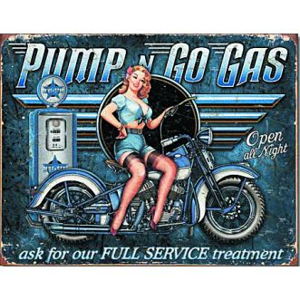 Plaque Pump n go gas plaque us - 30x40 cm