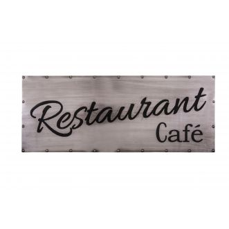 Plaque décorative - Restaurant-Café - 9 x 3 cm