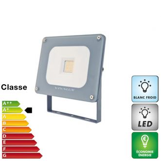 Projecteur LED extra plat - Blanc froid - 30 W