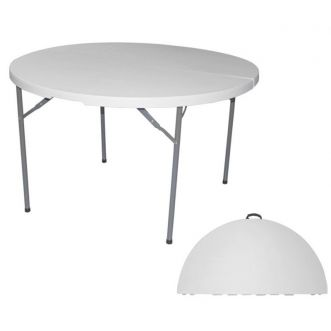 Table pliable - Ø122 L75 x H74 cm