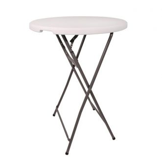 Table haute pliable Ø 80 x H 110 cm