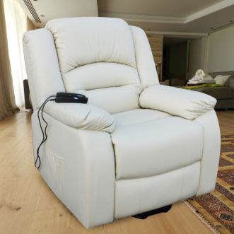 Fauteuil massant inclinable - Beige