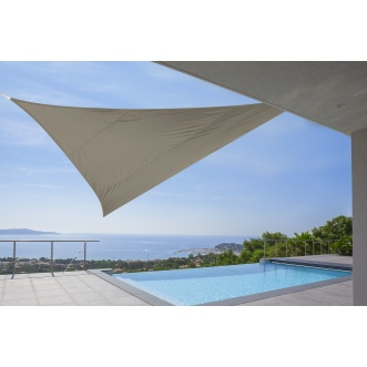 Voile triangulaire -  5 x 5  x 5 m - Taupe