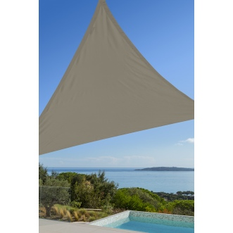 Voile triangulaire - 3 x 3 x 3 m - Taupe