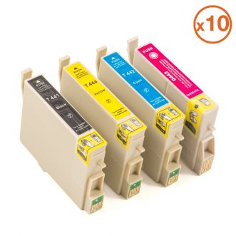 Pack 10 Cartouches compatibles EPSON T441 / T442 / T443 / T444