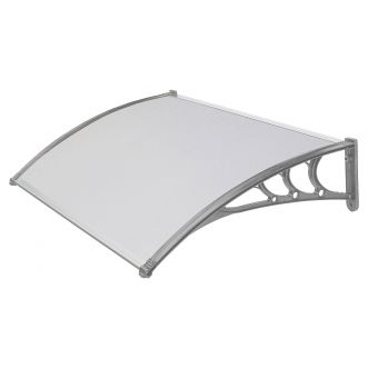 Marquise ABS - Structure grise - 80x120cm