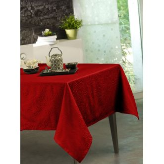 "Nappe  ""Stacy"" - Rouge - 150 x 300 cm"