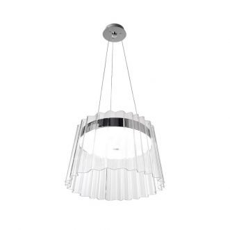 Suspension lumineuse IRIS - 55W - Chrome