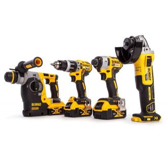 Monster pack DEWALT 4 machines 18V 3bat 5AH chargeur et deux coffrets de transport