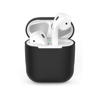 Protection pour Apple Airpods - silicone - noir