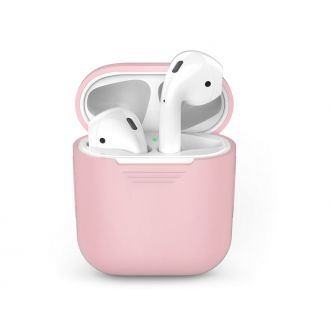 Protection pour Apple Airpods - silicone - rose