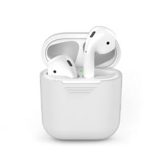 Protection pour Apple Airpods - silicone - blanc