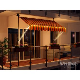 Store LED - 200 cm - Orange et noir