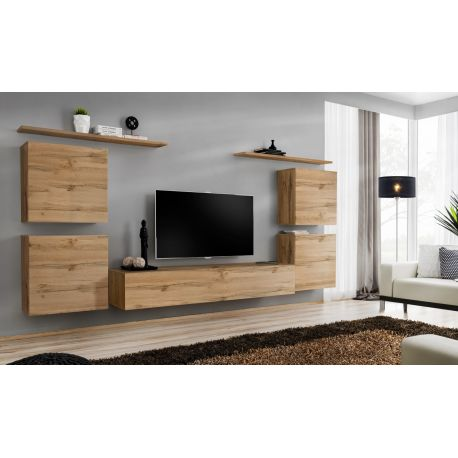 Ensemble Meuble Tv Mural Switch Iv 320 Cm Bois