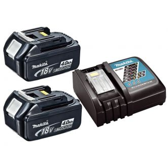 Lot 2 batteries 4 Ah + chargeur