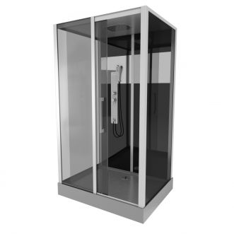 Cabine de douche Black Trendy Rectangle - 115 x 90 cm
