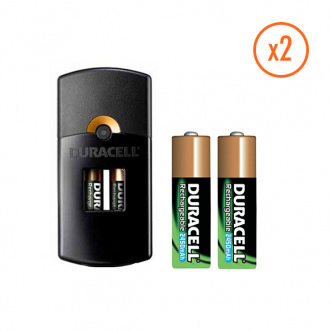 Piles rechargeable AA 2450mAh x2 + Chargeur
