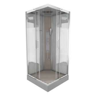 Cabine de douche hydromassante rectangle Fuzzy - 90 x 90 cm