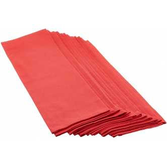 Lot de 12 serviettes - Arc en ciel - Rubis - 44 x 44 cm
