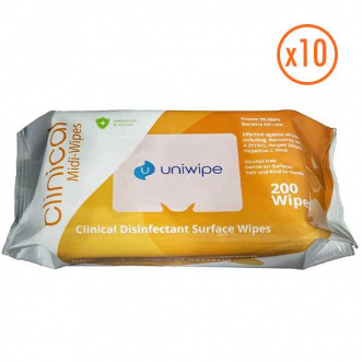 Lot de 2000 lingettes désinfectantes mains et surfaces