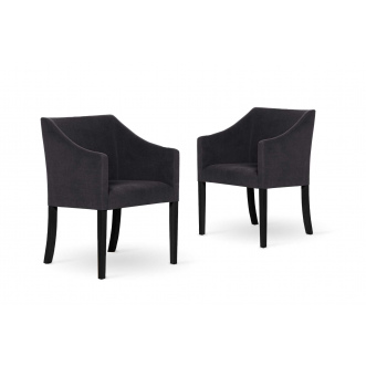 Set de 2  chaises  ILLUSION anthracite