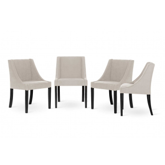 Set de 4 chaises  CREATIVITY blanc cassé
