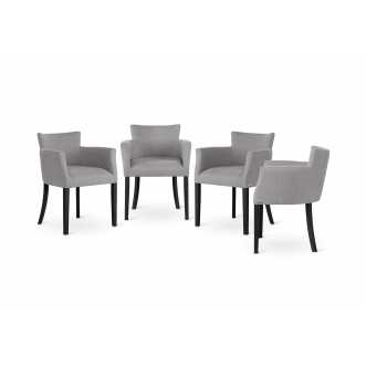 Lot de 4 fauteuils SANTAL gris