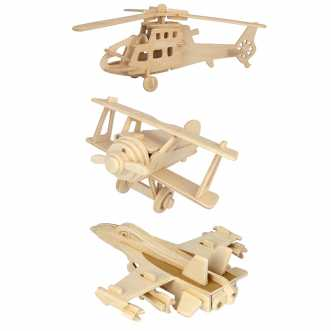 Pack 3 Puzzles 3D Aviation