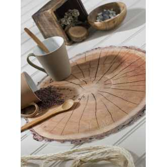 Set de table rond - Rondin de bois - Diam 38 cm