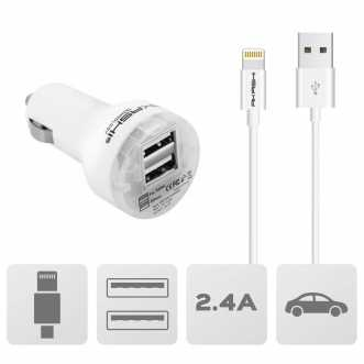 Pack chargeur allume cigare + câble