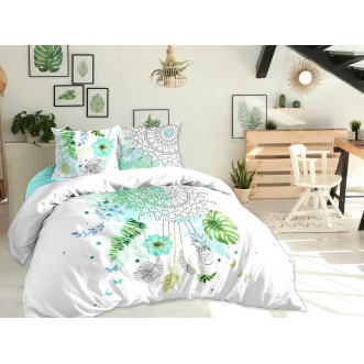 Housse de couette + 2 taies - 240x220cm - reve tropical multicolore