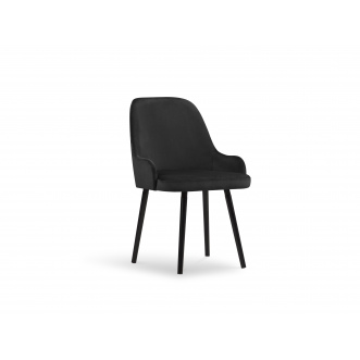 Chaise velours - Hugo - Noir