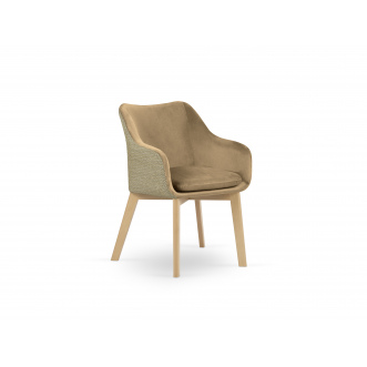 Chaise velours - Laurel - Beige