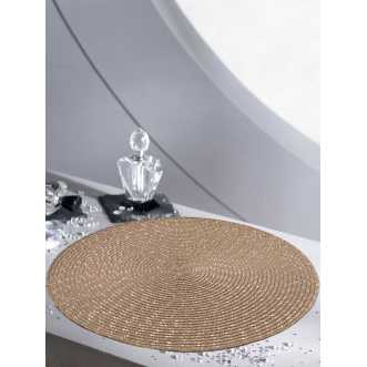 Set de table rond - Diamètre 35 cm - Taupe