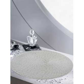 Set de table rond - Diamètre 35 cm - Blanc